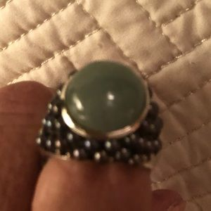 Jade and tactician pearl ring